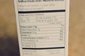 Lectura de etiquetas de alimentos como leer